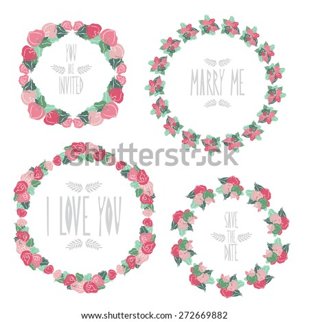 Elegant floral frames with calla flowers, design elements. Can be used for wedding, baby shower, mothers day, valentines day, birthday cards, invitations. Vintage decorative flowers. - stock vector