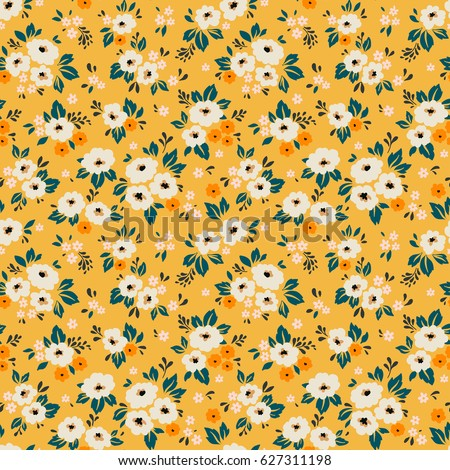 Elegant floral pattern small white flower stock vector 627311198 elegant floral pattern in small white flower liberty style floral seamless background for fashion mightylinksfo