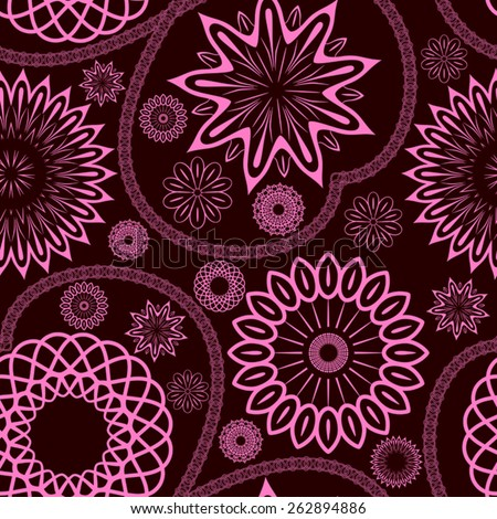Elegant floral seamless ornament, EPS8 - vector graphics. - stock vector