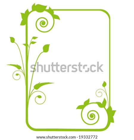 elegant foliage frame - stock vector