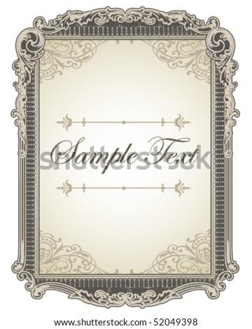 Elegant Frame - stock vector