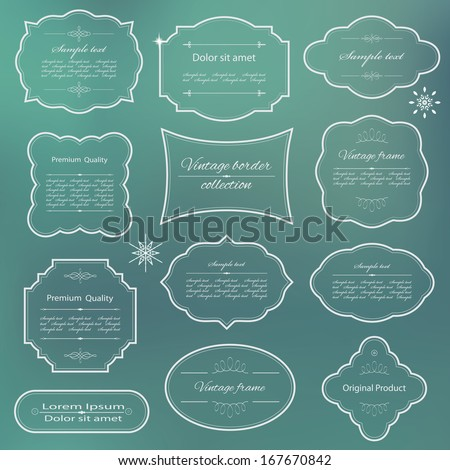 Elegant frame set. - stock vector