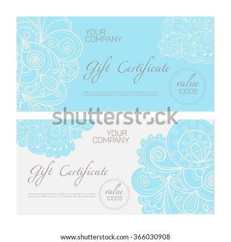 Elegant gift certificate template abstract ornamental stock vector elegant gift certificate template abstract ornamental background ideal for beauty and fashion companies pronofoot35fo Choice Image
