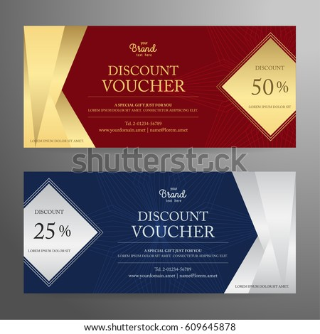 Elegant gift voucher gift card coupon stock vector 609645878 elegant gift voucher or gift card or coupon template for discount or complimentary negle Gallery