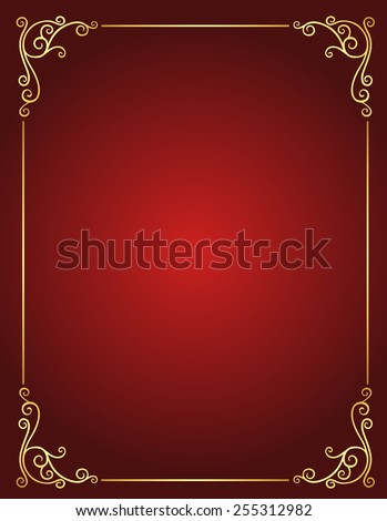 Elegant gold and red / maroon color blank / empty background . perfect as stylish wedding invitations and other party invitation cards or announcements - stock vector