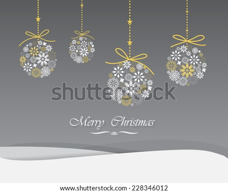 elegant Greeting card, Christmas , new year card or wedding ceremony, the word can be adjust for all ceremony,  vector and illustration can be use for wallpaper, background, backdrop - stock vector
