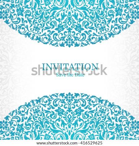 Elegant greeting card design vintage floral stock vector 416529625 vintage floral invitation card template luxury swirl mandala greeting card stopboris Choice Image