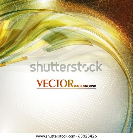Elegant greeting card. Vector - stock vector