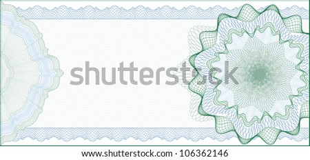 Elegant Guilloche Background for Gift Certificate, Voucher or Banknote / elements are in layers for easy editing - stock vector