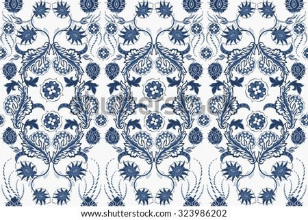 Elegant Hand Drawn vector pattern. Decorative ornament seamless paisley pattern. - stock vector