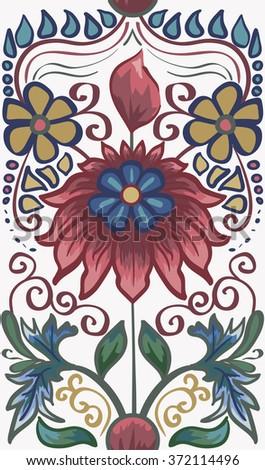 Elegant Hand Drawn vector pattern.Decorative ornament seamless pattern - stock vector