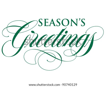 Elegant Holiday Vector Lettering Series: Season's Greetings - stock vector