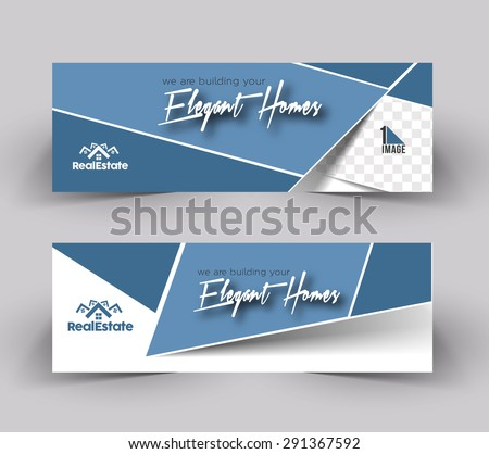 Elegant Homes Header & Banner Design - stock vector