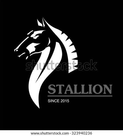 Elegant horse head. horse. side view of Elegant horse.symbolizing power, dignity, etc.Suitable for team Mascot ,community identity, product identity, corporate identity, illustration for apparel, etc  - stock vector