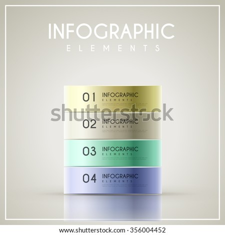 elegant infographic design with colorful banner elements
