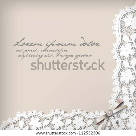 Elegant lace background. Vector eps 10 - stock vector