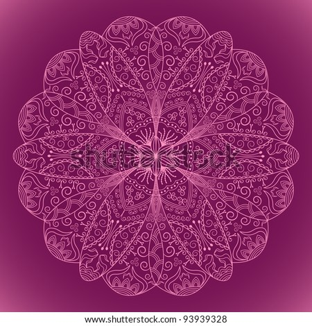 elegant lace floral pattern - stock vector