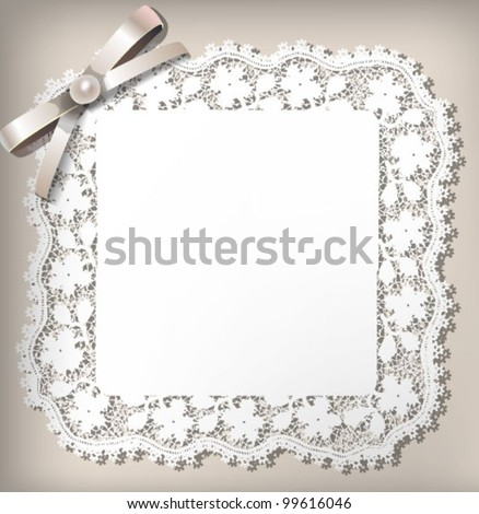 Elegant lace frame. EPS 10 - stock vector