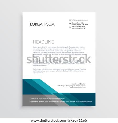 Elegant Letterhead Design Template Blue Gray Stock Vector ...