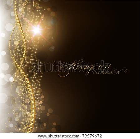 elegant magic golden background with place for text invitation. with stars, sun shine and sparks. eps 10. - stock vector