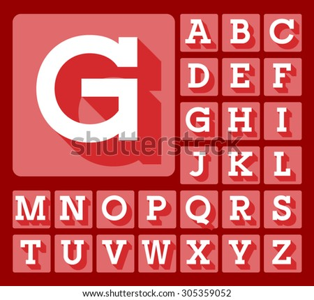 Elegant minimalistic vector alphabet in slab style. Uppercase letters - stock vector