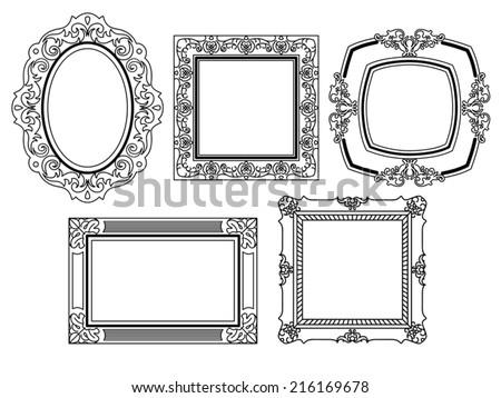 elegant ornate frames stock vector royalty free 216169678