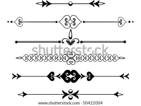 Elegant Ornate scrolls, rule lines or monogram. - stock vector