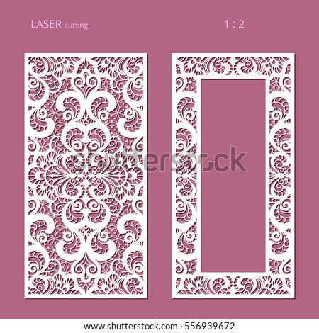 Elegant panels lace pattern swirly lattice stock vector 556939672 elegant panels with lace pattern swirly lattice ornament and rectangle frame for laser cutting or stopboris Images