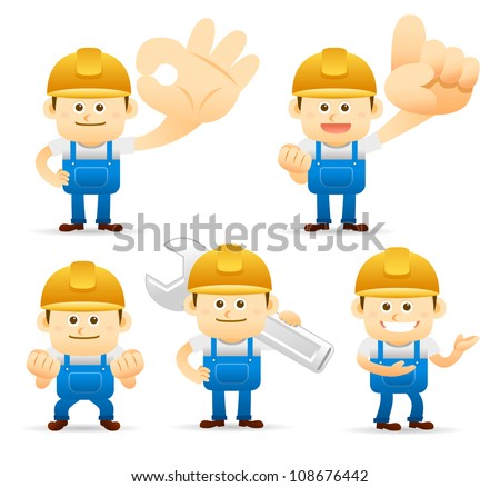 Elegant People Series | builder set - stock vector