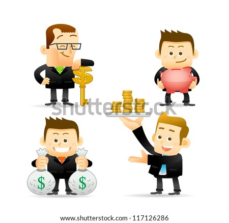 Elegant People Series | Businessman,Finance set - stock vector