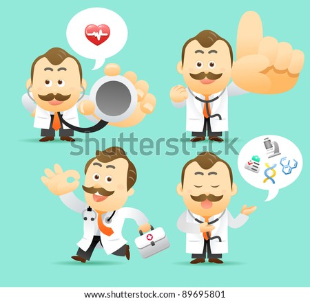 Elegant People Series | Doctor character collection - stock vector