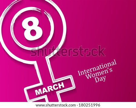 Elegant pink color background with creative element design for International Women's Day. vector illustration - stock vector