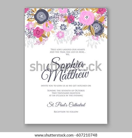 Elegant pink rose wedding invitation card stock photo photo vector elegant pink rose wedding invitation card stock photo photo vector illustration 607210748 shutterstock stopboris Choice Image