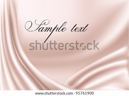 Elegant pink satin texture. Vector illustration. - stock vector