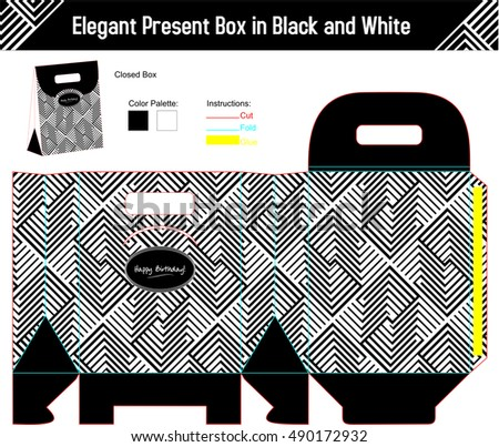Elegant present box with abstract design