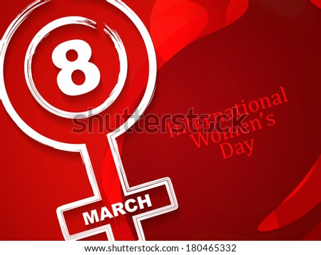 Elegant red color background with creative element design for International Women's Day. vector illustration - stock vector