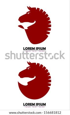 Elegant Red Horse  - stock vector