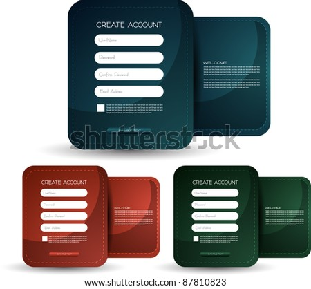 elegant registration form vector easy to edit into any type of web form - stock vector