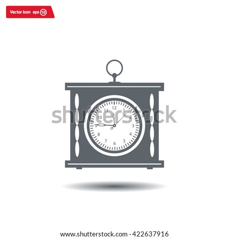 elegant roman numeral clock / vector illustration