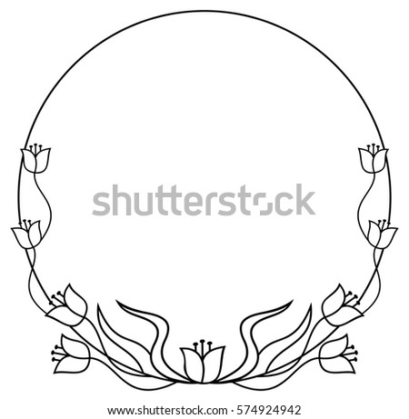 Round Flower Frame Stock Images Royalty Free Images Amp Vectors Shutterstock