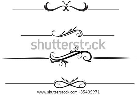 Elegant rule lines - stock vector