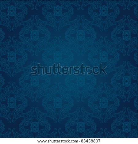 elegant seamless damask background - stock vector