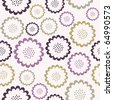 Elegant seamless floral pattern - stock vector