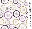 Elegant seamless floral pattern - stock photo
