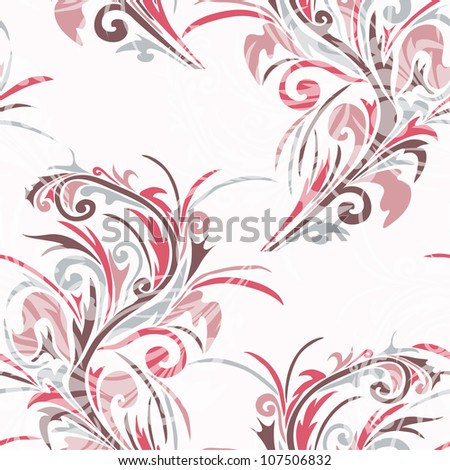 elegant seamless floral pattern for your design - stock vector