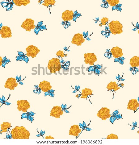 Elegant Seamless floral pattern with wait flowers  - stock vector