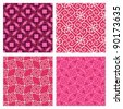 Elegant seamless pink patterns. - stock vector