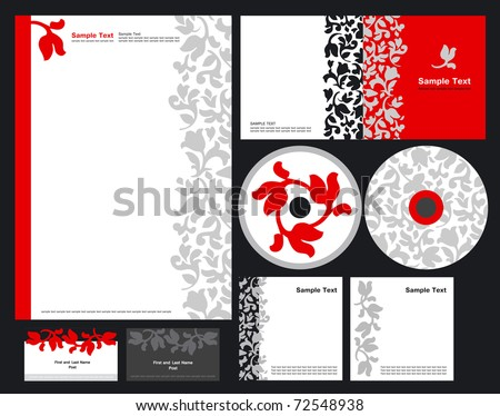 Elegant template vector background for hotels and restaurant (blank, card, cd, note-paper, cover) - stock vector