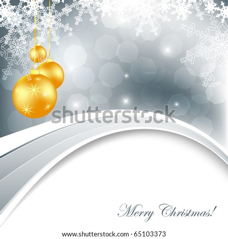 elegant vector background with snowflakes and decoration. Eps10 - stock vector