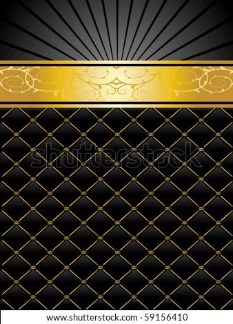 Elegant Vector Black Gold Background Stock Vector 59156410